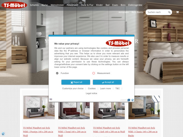 TS Möbel in Göllin (Göllin) - Online-Möbelhaus, Schrankbetten ...