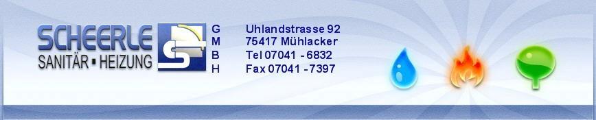 Bild zu Scheerle GmbH sanitäre Anlagen und Heizungsbau in Mühlacker