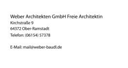 Weber Architekten GmbH Freie Architektin Ober-Ramstadt