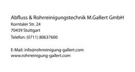 Abfluss & Rohrreinigungstechnik M.Gallert GmbH Stuttgart
