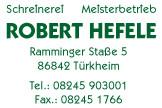 Bild zu Schreinerei Robert Hefele in Türkheim Wertach