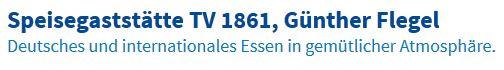 Bild zu Speisegaststätte TV 1861, Günther Flegel in Neu Isenburg