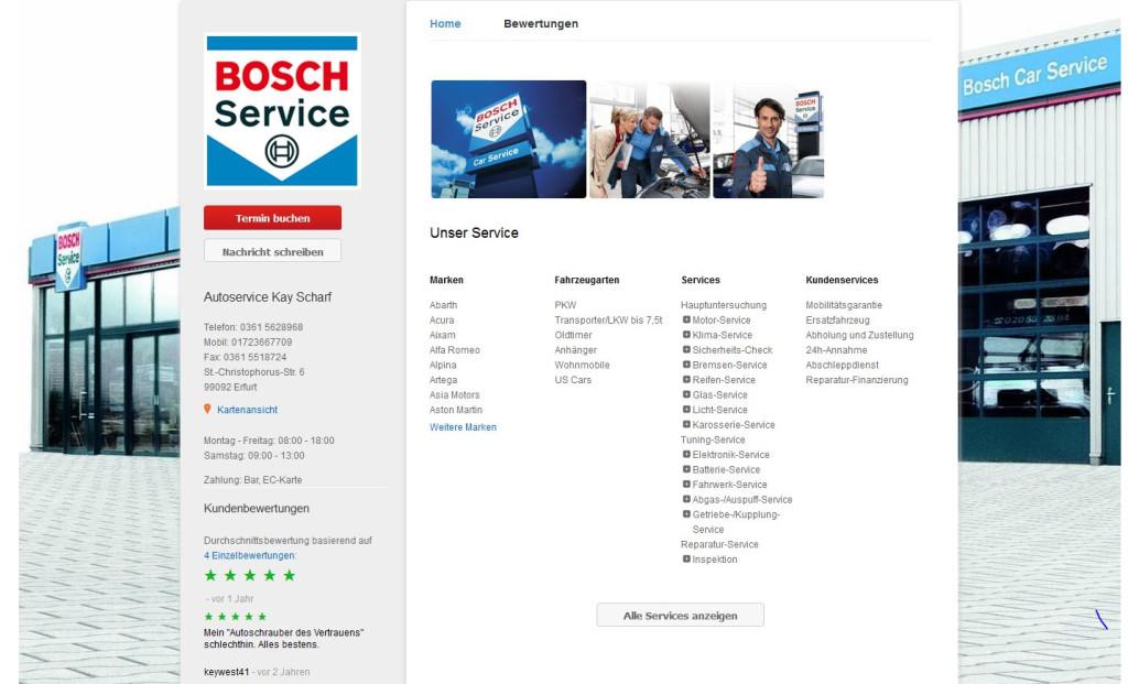 bosch car service kay scharf in erfurt branchenbuch deutschland. Black Bedroom Furniture Sets. Home Design Ideas