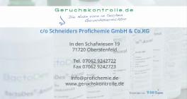 Geruchskontrolle.de - Schneiders Profichemie GmbH & Co.KG Oberstenfeld