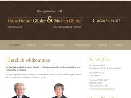 Rechtsanwalt H.-Heiner Göhler Berlin