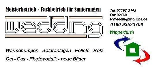 Bild zu Wedding Sanitär- und Heiztechnik in Wipperfürth