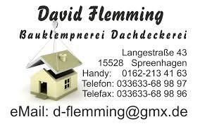 Bild zu David Flemming Dachdeckerbetrieb in Spreenhagen