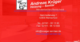 Andreas Krüger Heizung-Sanitär Meisterbetrieb Remscheid Remscheid