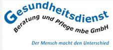 Firmenlogo: Gesundheitsdienst Beratung und Pflege mbe GmbH