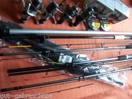 Spro komplett Ausrüstung - neu 5 Ruten, 4 Rollen, Kescher, Schnur
