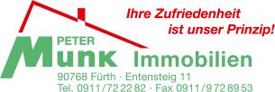 Firmenlogo: Peter Munk Immobilien Inh. Gisela Munk e.K.