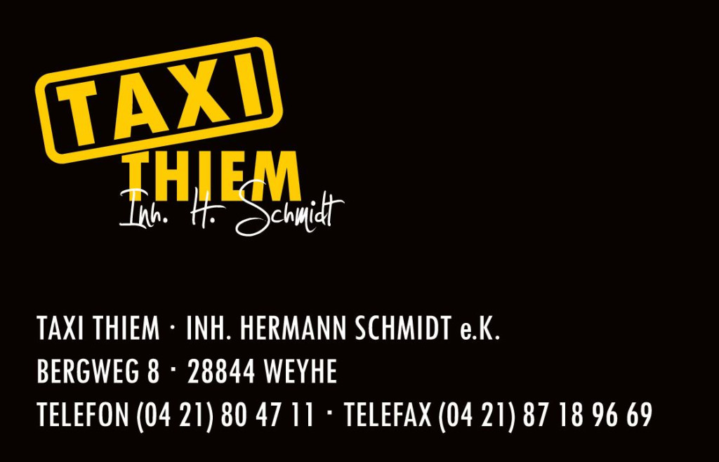 Bild zu Taxi Thiem in Weyhe bei Bremen