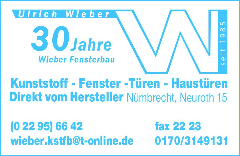 Bild zu Ulrich Wieber Kunststoff-Fensterbau in Nümbrecht