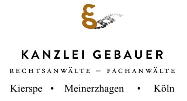 Bild zu Gebauer • Kaus Rechtsanwälte - Fachanwälte Partnerschaft mbB in Kierspe