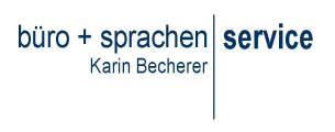 Firmenlogo: büro + sprachen SERVICE Karin Becherer