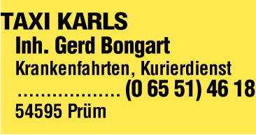 Taxi Gerd Bongart