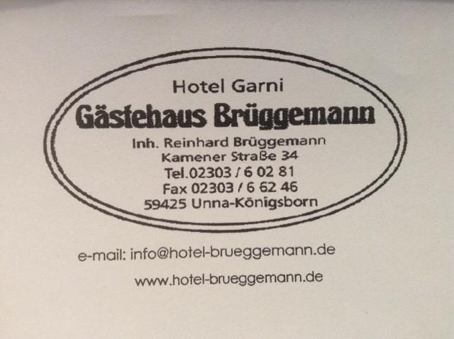 Bild zu Hotel Gästehaus Brüggemann in Unna