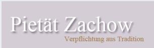 Firmenlogo: Bestattungsinstitut Pietät Zachow