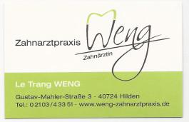 Weng, Le-Trang Zahnärztin Hilden