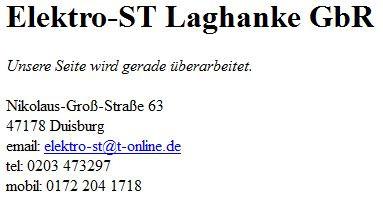 Bild zu Elektro-ST Laghanke & Laghanke GbR in Duisburg