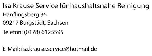 Bild zu Isa Krause Service für haushaltsnahe Dienstleistungen in Burgstädt