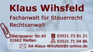 Bild zu Klaus Wihsfeld Fachanwalt für Steuerrecht in Meißen