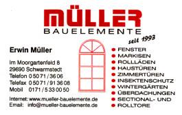Müller Bauelemente Schwarmstedt
