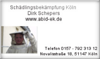 Bild: Kammerjäger Dirk Schepers in Köln