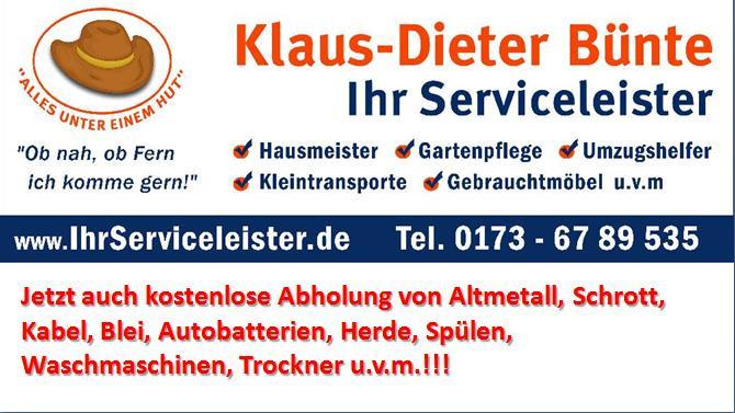 Bild zu Ihr Serviceleister Klaus-Dieter Bünte in Monheim am Rhein