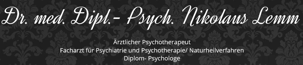 Bild zu Dr. med. Dipl.- Psych. Nikolaus Lemm in Lübbenau im Spreewald