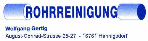 Bild zu Rohrreinigung Gertig in Hennigsdorf