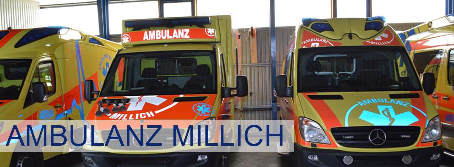 Logo von Ambulanz Millich Krankentransport/Fahrdienst GmbH & Co.KG