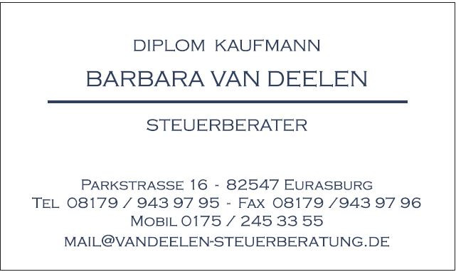 Bild zu Barbara van Deelen Steuerberater in Eurasburg an der Loisach