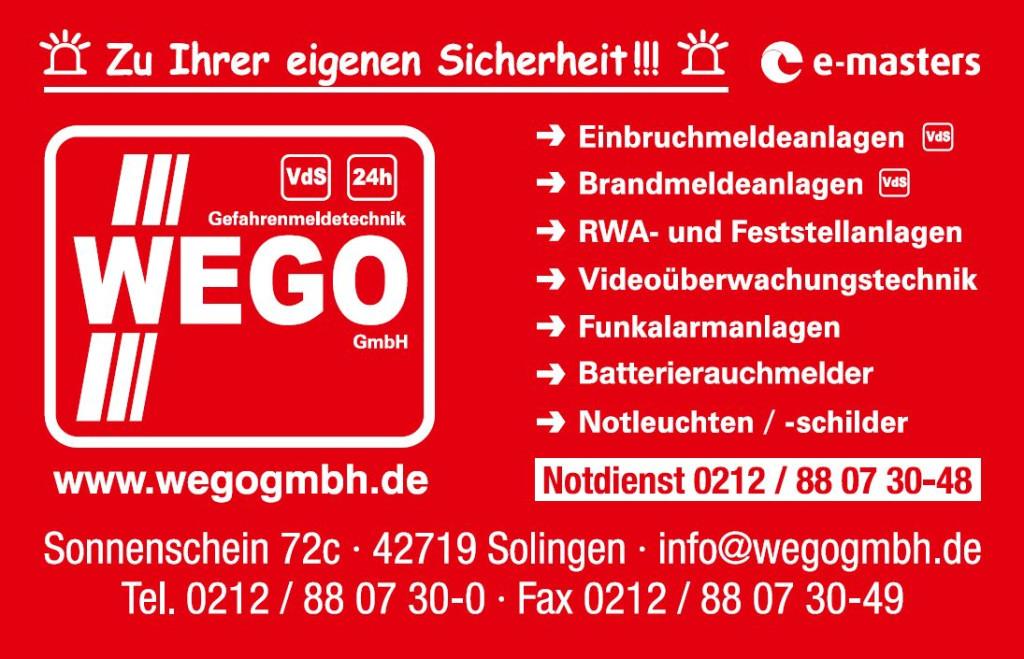Bild zu Gefahrenmeldetechnik WEGO GmbH in Solingen