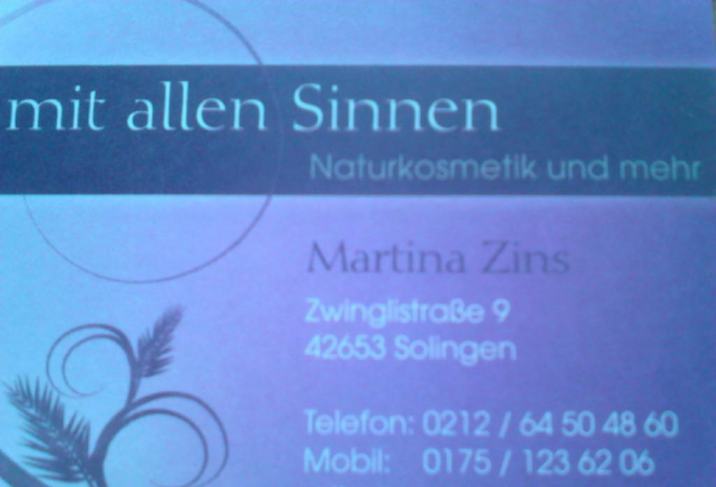 Bild zu Martina Zins Kosmetikinstitut in Solingen