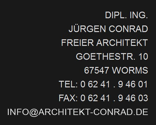 Bild zu Dipl.-Ing. Jürgen Conrad freier Architekt in Worms