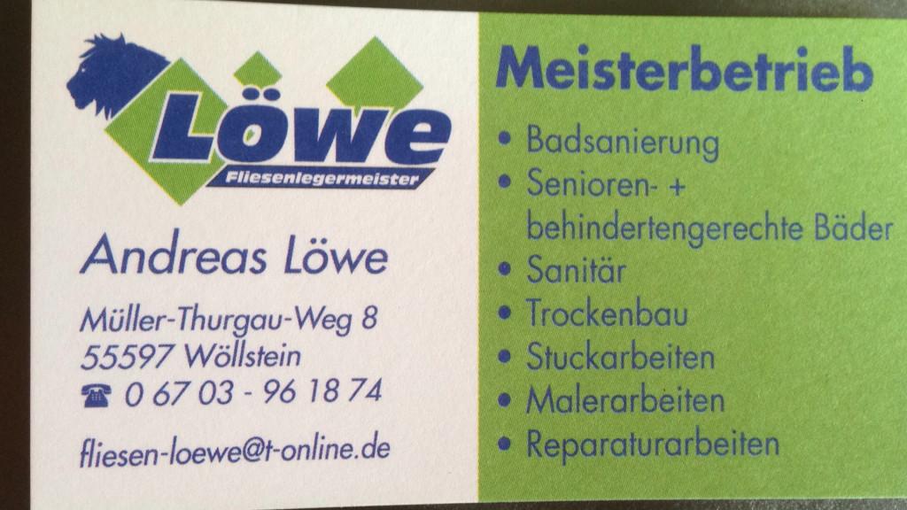 Bild zu Fliesen-Sanitär Löwe in Wöllstein in Rheinhessen