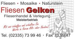 Bild zu Fliesen Geiken GmbH in Wetter an der Ruhr