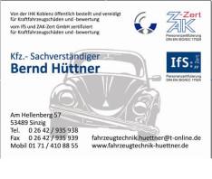 KFZ - Sachverständiger Bernd Hüttner Sinzig, Rhein