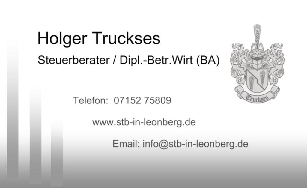 Bild zu Steuerberater Holger Truckses in Leonberg in Württemberg