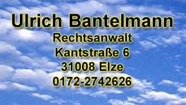 Bild zu Bantelmann Ulrich Rechtsanwalt, staatlich anerkannte Gütestelle, Mediator und Supervisor in Elze an der Leine