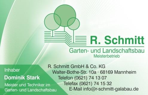 Bild zu R. Schmitt GmbH & Co.KG Garten-u. Landschaftsbau Dienstleistungen in Mannheim