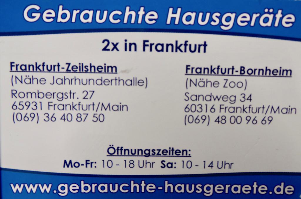 Bild zu Gebrauchte Elektrogeräte in Frankfurt am Main