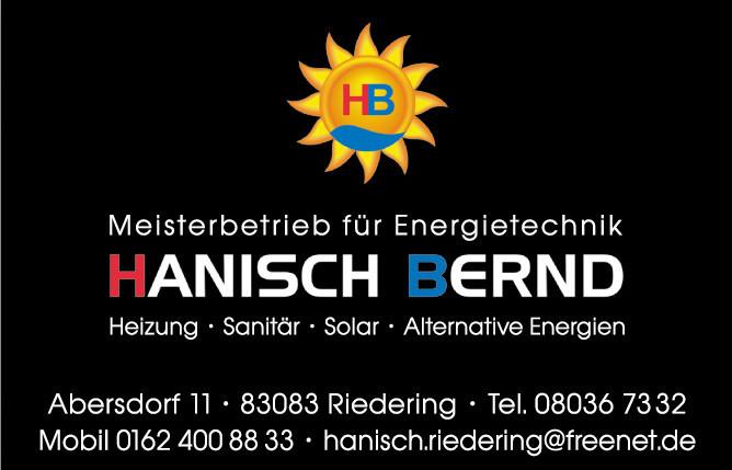 Bild zu Hanisch Bernd Heizung/Sanitär/Solar in Riedering