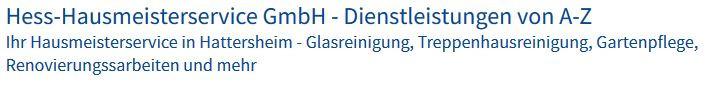 Bild zu Hess-Hausmeisterservice GmbH - Dienstleistungen von A-Z in Hattersheim am Main