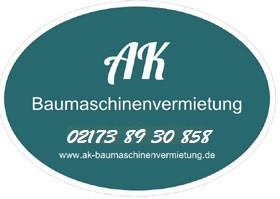 Logo von AK Baumaschinenvermietung, Andreas Kaaf