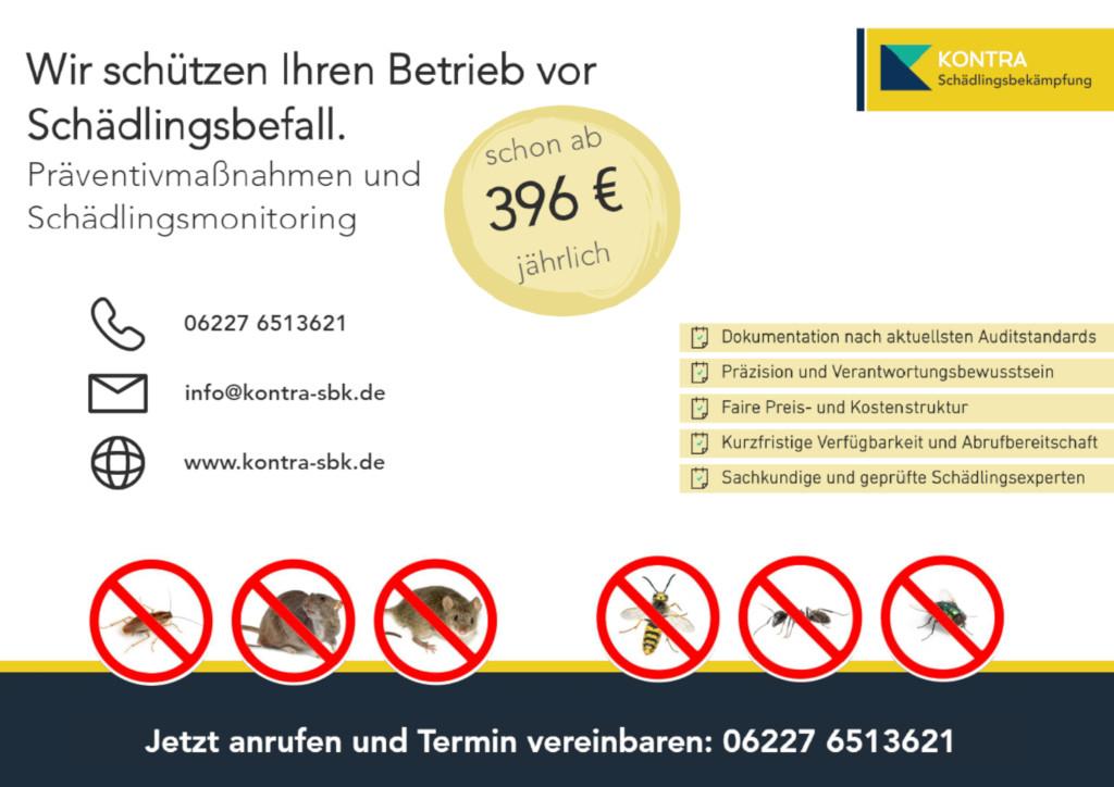 Bild der Kontra Schädlingsbekämpfung, Taubenabwehr und Desinfektion UG (haftungsbeschränkt)