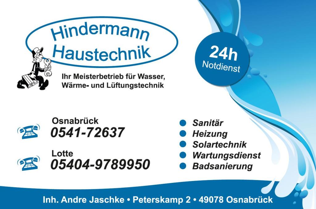 Bild zu Hindermann Haustechnik Inh. Andre Jaschke in Osnabrück