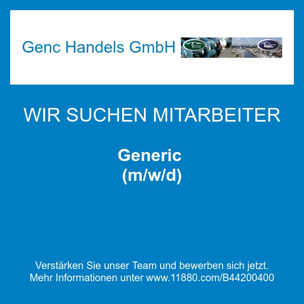 Generic (m/w/d)