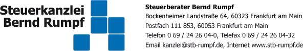 Bild zu Steuerkanzlei Bernd Rumpf in Frankfurt am Main